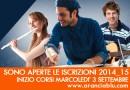 Il Laboratorio Musicale Aranciablu riapre le iscrizioni  MERCOLEDI' 3 SETTEMBRE 2014